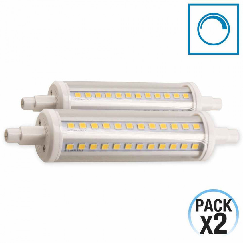 Pack 2 Bombillas LED R7S 9W 25000h