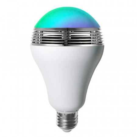 Bombilla LED RGB con Altavoz y Bluetooth E27 9W 15000h