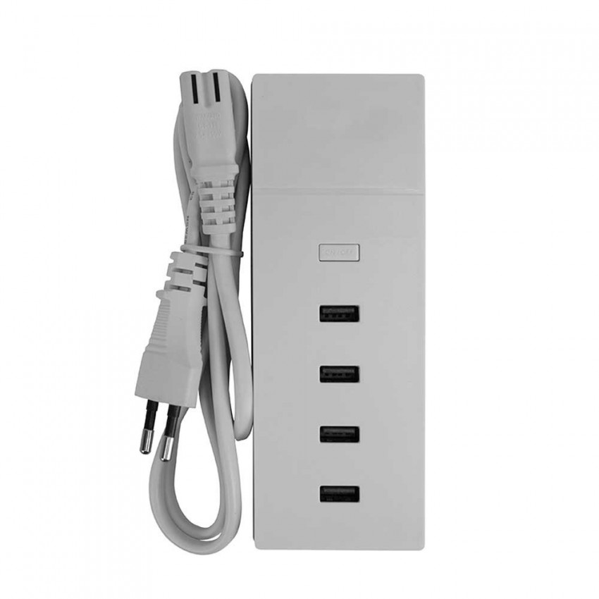 Base de Carga Ultra Rápida 4 USB 1m Blanco