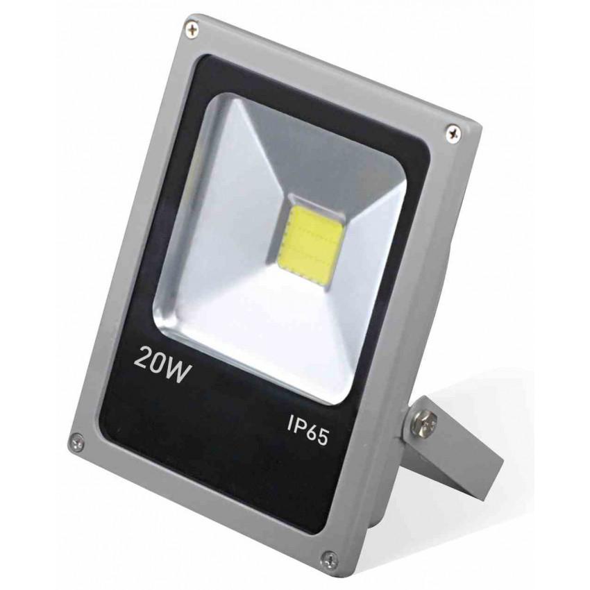 Proyector LED 20W Ultraslim de Exterior Orientable Aluminio 4000K 7hSevenOn Outdoor