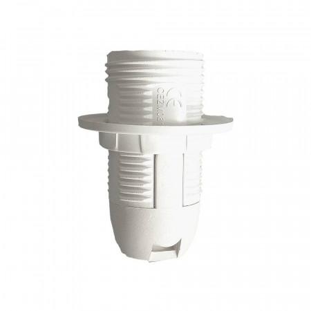 Portalámparas Semirosca con Arandela E14 Blanco 7hSevenOn Elec