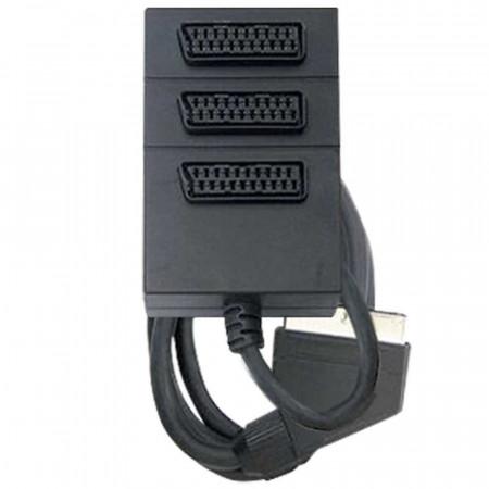 Adaptador 3 Tomas Euroconector con Cable 0,5m 7hSevenOn Elec