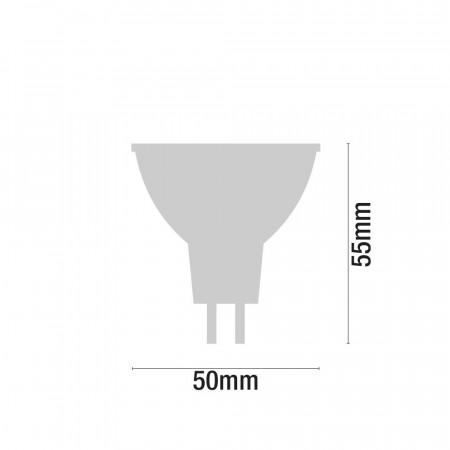 Pack 3 Bombillas LED Spotlight GU5.3 7,4W Equi.50W 540lm 3000K 15000H 7hSevenOn