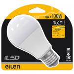 Bombilla LED Estándar E27 16W Equi.100W 1521lm 3000K 25000H Eilen