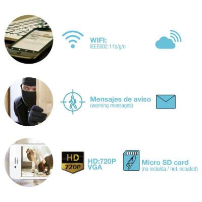 Cámara de Seguridad Inteligente WiFi Manual 180° vía Smartphone/APP 7hSevenOn Home