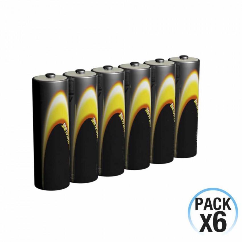 Pack 6 Pilas Alcalinas Estándar 1.5V LR06-AA 7hDayron
