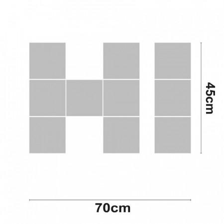 Palabra LED HI Decorativa 30W 2000lm 4000K 45x70cm 7hSevenOn Deco