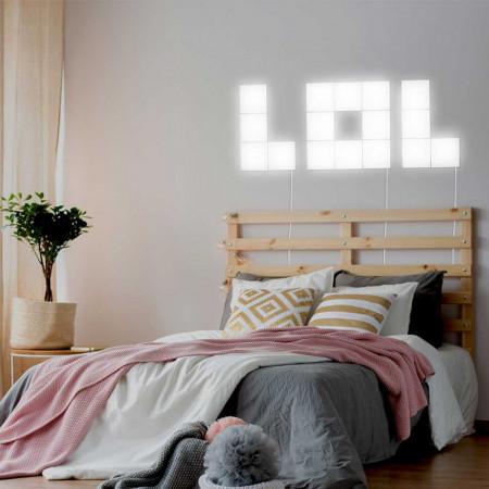 Palabra LED LOL Decorativa 48W 3200lm 4000K 45x125cm 7hSevenOn Deco
