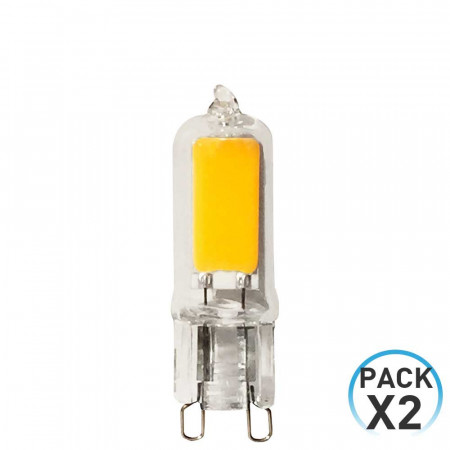 Pack 2 Bombillas LED Bipin G9 3W Equi.30W 320lm 3000K 25000H 7hSevenOn