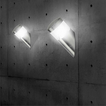 Aplique LED de Pared Angular 7W 450lm Exterior IP44 Aluminio Mate 7hSevenOn Outdoor