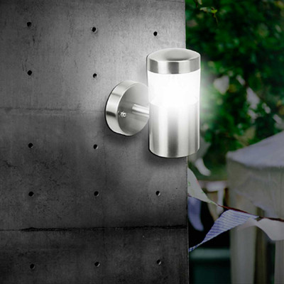 Aplique LED de Pared Ascendente 7W 450lm Exterior IP44 Aluminio Mate 7hSevenOn Outdoor