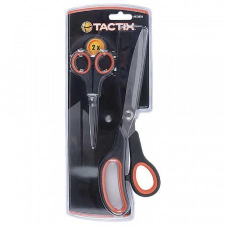Pack 2 Tijeras Multiusos Profesionales 27,5cm y 14cm Tactix