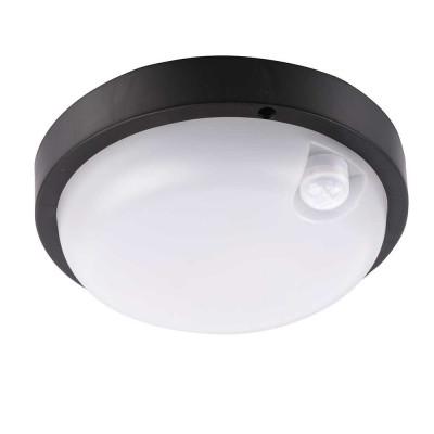 Aplique LED 12W 900lm de Exterior IP65 con Sensor de Movimiento Negro 7hSevenOn