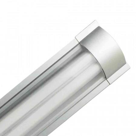Luminaria Fluorescente 2x18W Tubos T8 G13 2600lm 4000K Aluminio 7hSevenOn