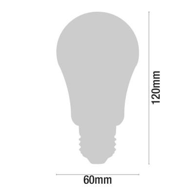 Bombilla LED Estándar E27 9W Equi.60W 806lm 3000K 25000H Eilen