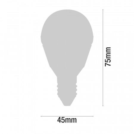 Bombilla Halógena Esférica E14 18W 205lm 2900K 7hSevenOn