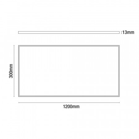 Panel LED Ultraslim Rectangular 36W 3200lm 1200x300mm 4000K 7hSevenOn