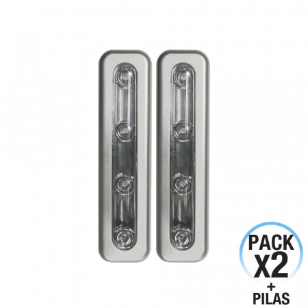 Pack 2 Pulsadores Luminosos LED de Noche Rectangular 7hSevenOn Elec
