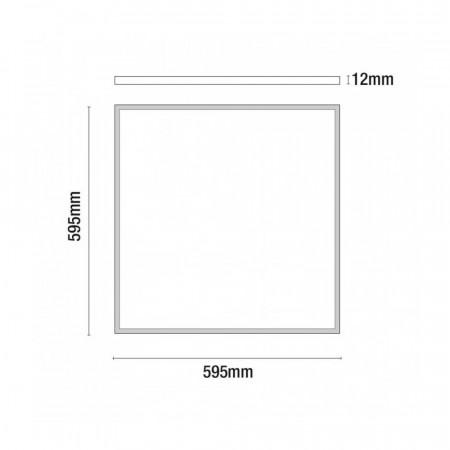 Panel LED Ultraslim Cuadrado 48W 3600lm 600x600mm 3000K Eilen