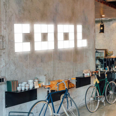 Palabra LED COOL Decorativa 75W 5000lm 4000K 45x180cm 7hSevenOn Deco