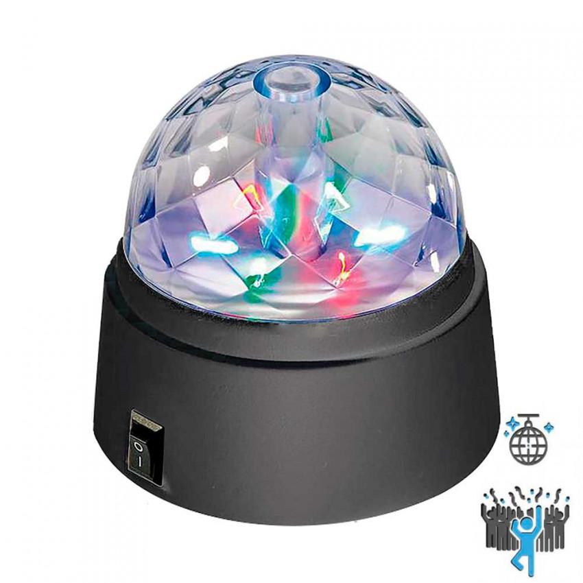 Lámpara LED RGB Decorativa Disco Party Giratorio y Pilas 1.5V LR06-AA 7hSevenOn