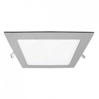 Downlight LED Ultraslim Empotrable Cuadrado 15W 1100lm 20,5x20,5cm 4000K Aluminio 7hSevenOn