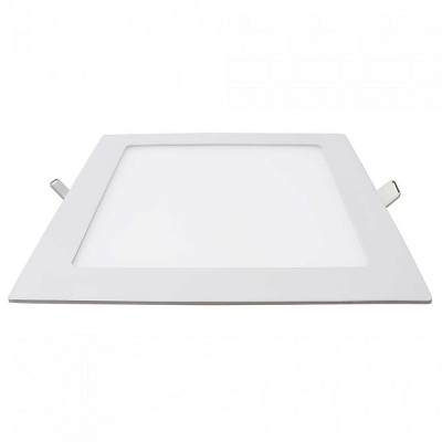 Downlight LED Ultraslim Empotrable Cuadrado 26W 2400lm 20,5x20,5cm 4000K Blanco 7hSevenOn
