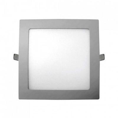 Downlight LED Ultraslim Empotrable Cuadrado 26W 2400lm 20,5x20,5cm 4000K Aluminio 7hSevenOn