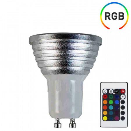 Bombilla LED Spotlight GU10 5W Equi.25W 200lm RGB 25000H 7hSevenOn LED