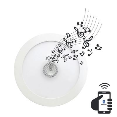Downlight LED Ultraslim Empotrable Redondo con Altavoz Bluetooth 22W 1300lm Ø21cm 4000K Blanco 7hSevenOn