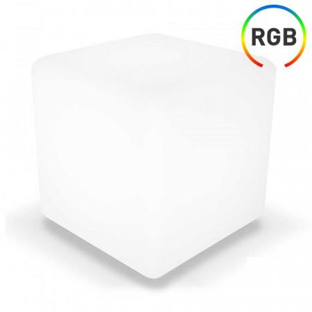 Cubo LED RGB Decorativa 40x40cm con Mando 7hSevenOn Outdoor