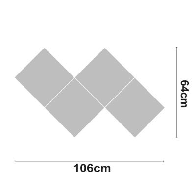 Figura LED RAY Decorativa 40W 3200lm 4000K 64x106cm 7hSevenOn Deco