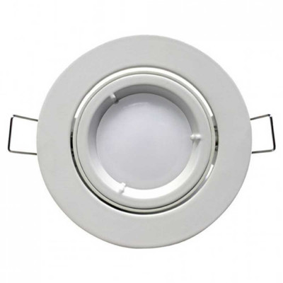 Foco LED Empotrable Orientable Redondo GU10 10W 900lm Ø9,5cm Blanco 7hSevenOn
