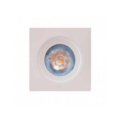 Foco LED Empotrable Orientable Cuadrado GU10 7W 560lm Ø7cm Blanco 7hSevenOn