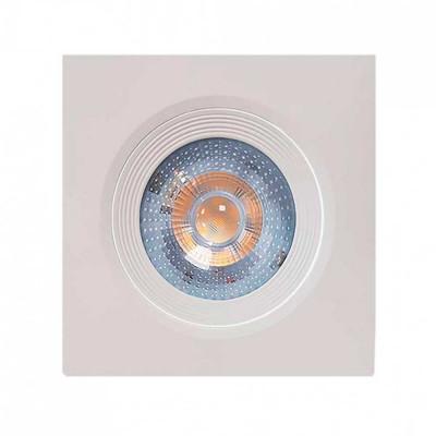 Foco LED Empotrable Orientable Cuadrado GU10 10W 900lm Ø9,5cm Blanco 7hSevenOn