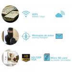Pack 2 Cámaras de Seguridad Inteligentes WiFi Manual 180° vía Smartphone/APP 7hSevenOn Home