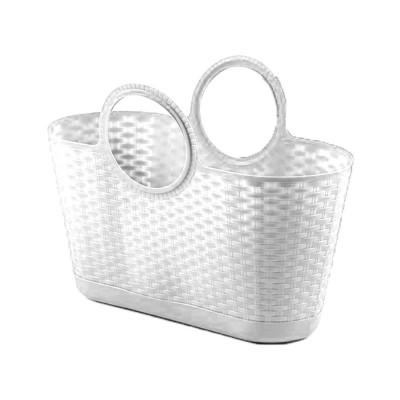 Bolso Capazo Bag Rattan Multiusos 28 Litros Blanco