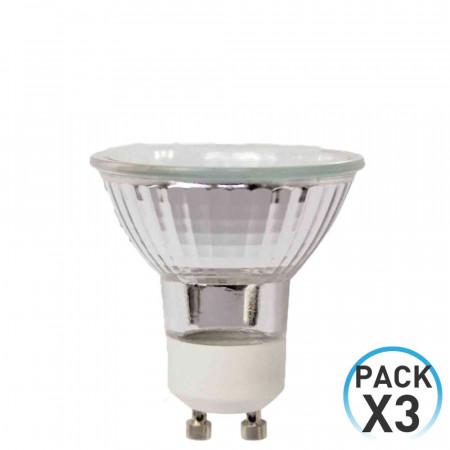 Pack 3 Bombillas Halógenas Spotlight GU10 35W 480lm 2900K 7hSevenOn