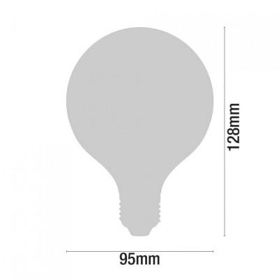 Pack 2 Bombillas LED Filamento Globo E27 8W Equi.60W 806lm 3000K 15000H 7hSevenOn
