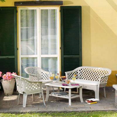 Conjunto de Terraza Veranda Blanco Progarden