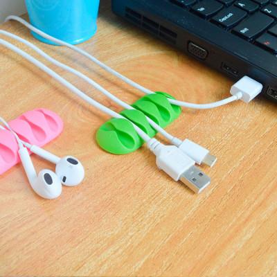 Pack 2 Clips Organizadores de Cables con 5 Ranuras y Autoadhesivo Nine&One