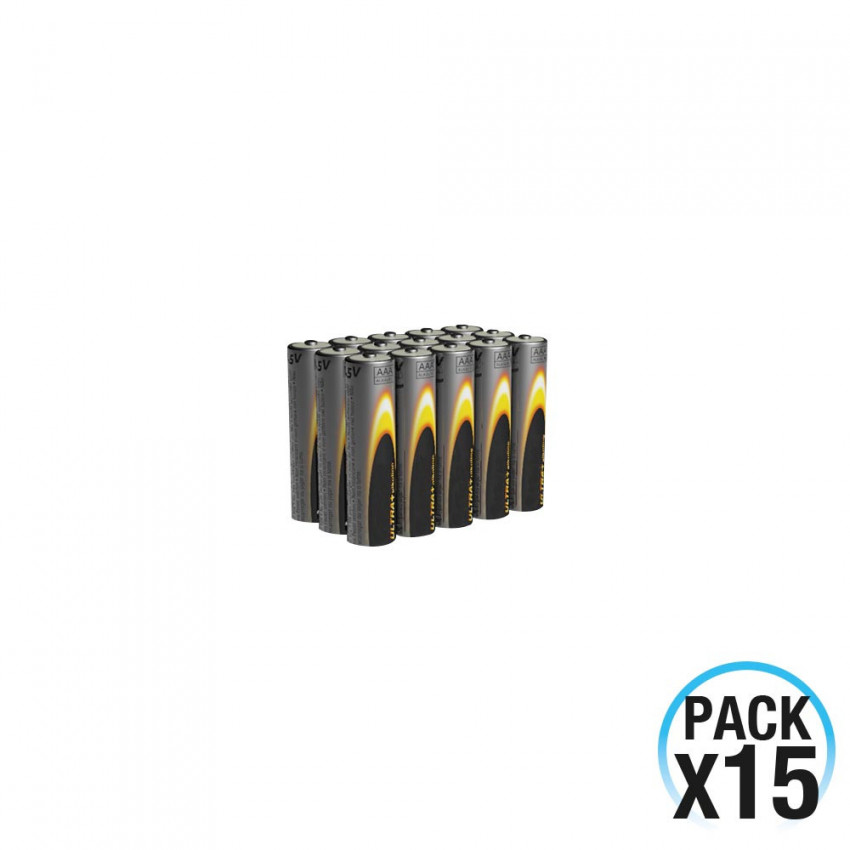 Pack 15 Pilas Alcalinas Estándar Pequeñas 1.5V LR03-AAA 7hDayron