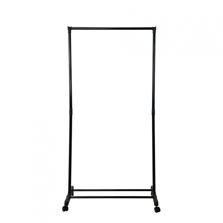 Burro Perchero Simple Metálico Negro con Zapatero 157x74,5x41,5cm 7house