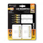 Pack 2 Luces LED con Sensor Magnético y 4 Pilas Incluidas 4000K 7hSevenOn Elec