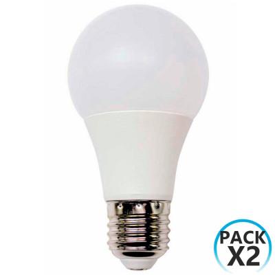 Pack 2 Bombillas LED Estándar E27 9W Equi.60W 806lm 25000H 7hSevenOn LED