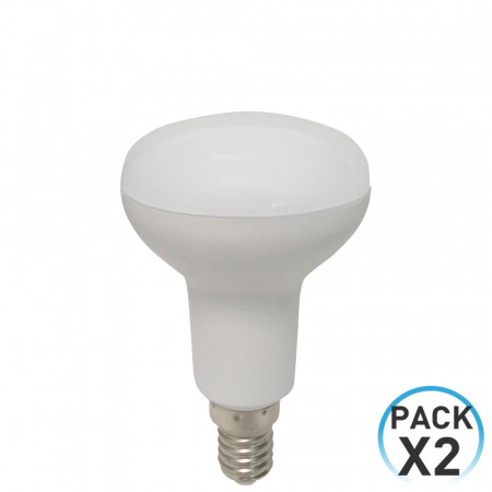 Pack 2 Bombillas LED Reflectora E14 5W Equi.40W 470lm 4000K 25000H
