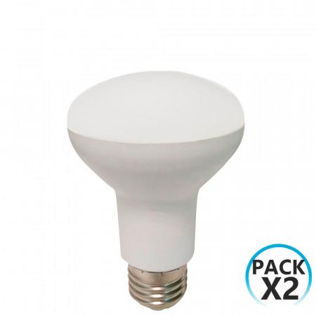 Pack 2 Bombillas LED Reflectora E27 9W Equi.60W 806lm 4000K 25000H 7hSevenOn LED