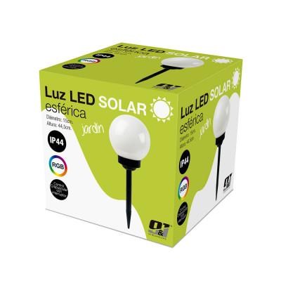 Pack 12 Balizas Solares LED Exterior Crespuscular Esférica RGB Nine&One