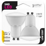 Pack 2 Bombillas LED Spotlight GU10 3,5W Equi.25W 240lm 3000K 15000H 1Primer Low Cost