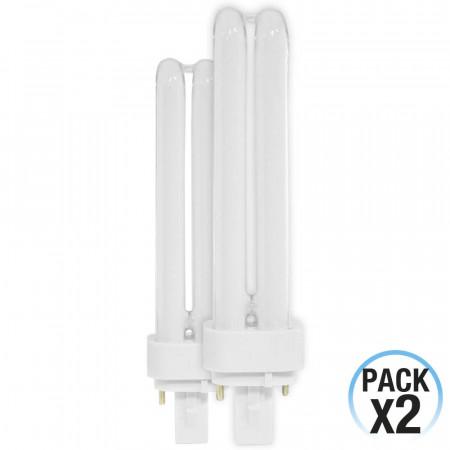 Pack 2 Bombillas CFL Bajo Consumo 2U G24D3 26W 1456lm 4000K 1Primer Low Cost